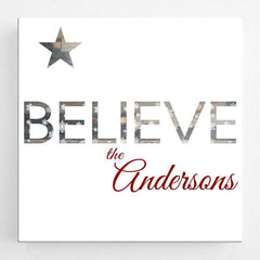 Personalized Christmas Canvas Sign - Believe