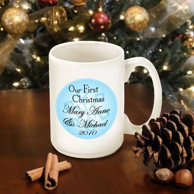 Personalized Our First Christmas Coffee Mug - Style8 - JDS