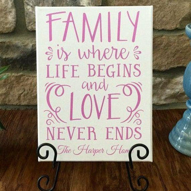 Personalized Family Quote Signs (9x12) -  - Qualtry
