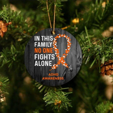 Personalizable No One Fights Alone Christmas Ornaments -  - Qualtry