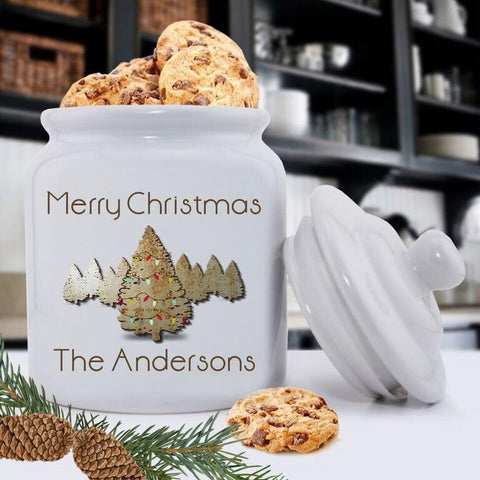 Personalized Holiday Cookie Jars - Spruce -  - Keepsake Gifts - AGiftPersonalized
