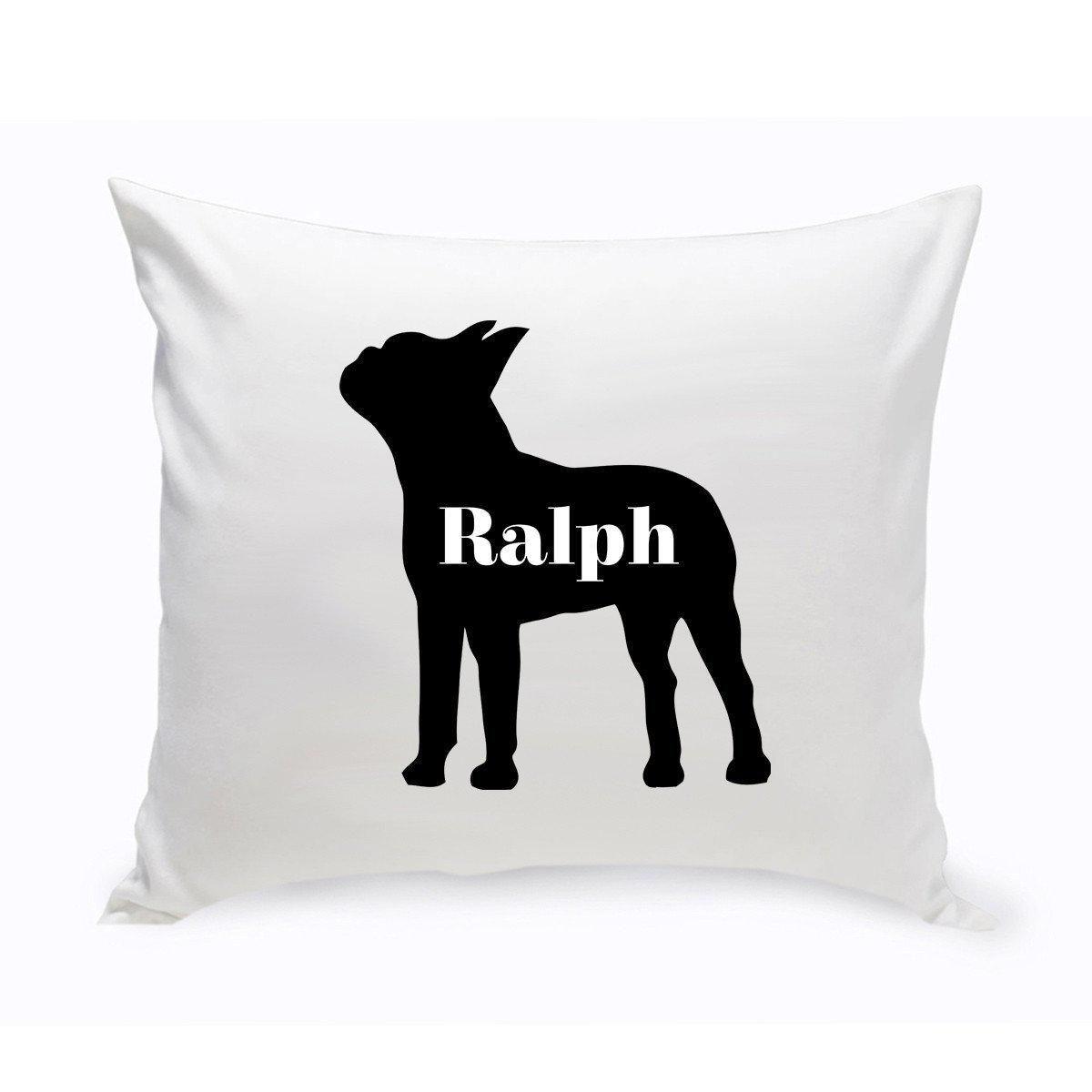 personalized throw pillow dog silhouette personalized dog gifts