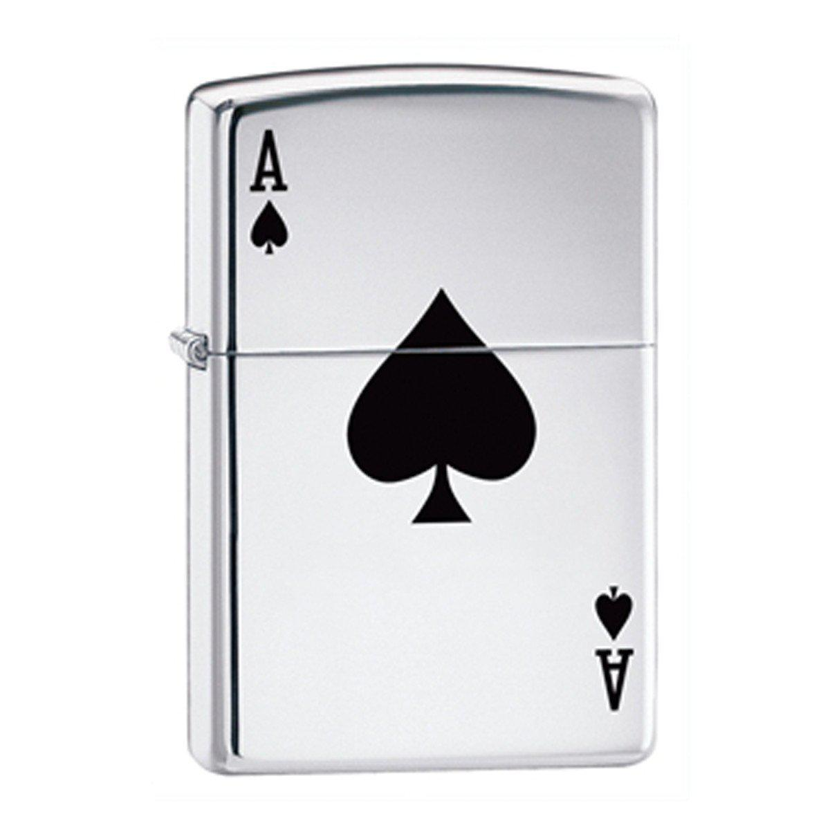 Personalized Aces Zippo Lighter - Chrome