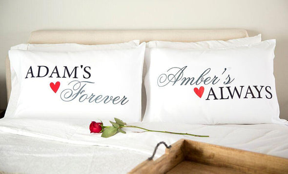 Personalized Romantic Pillowcases -  - A Gift Personalized