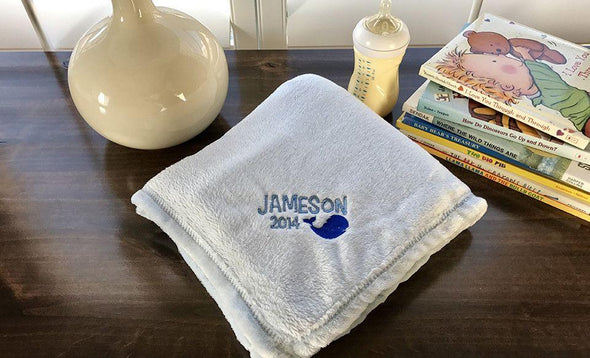 Personalized Soft and Luxurious Baby Blankets -  - Qualtry