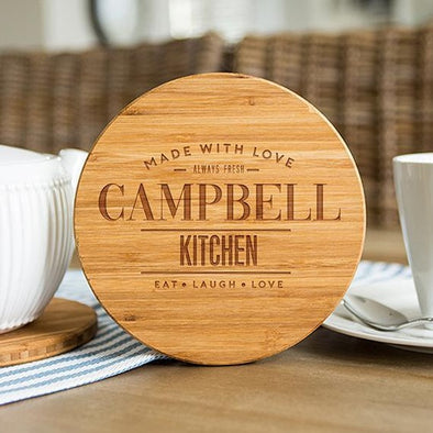 "Personalized 7"" Bamboo Trivets (Modern Collection) -  - Qualtry"