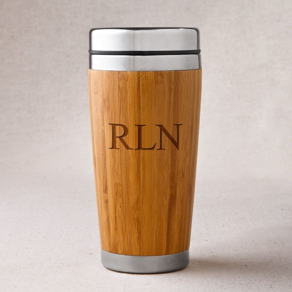 Personalized Bamboo Tumbler - Insulated - 3Initials - JDS