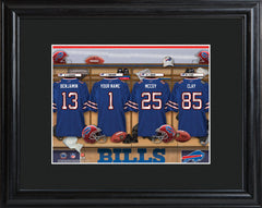 Personalized NFL Locker Sign w/Matted Frame - All Teams - Bills - Professional Sports Gifts - AGiftPersonalized