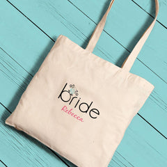 Personalized Canvas Totes - Bride and Bride to Be -