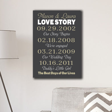 Personalized Best Days of Our Lives Canvas Print -  - JDS