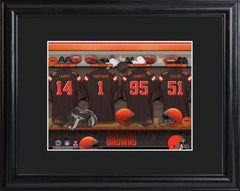 Personalized NFL Locker Sign w/Matted Frame - All Teams - Browns - Professional Sports Gifts - AGiftPersonalized