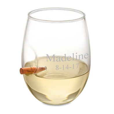 Personalized Bullet Wine Glass Stemless -  - JDS