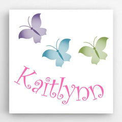 Personalized Kids Canvas Signs - 5 unique designs - Butterflies - Canvas Prints - AGiftPersonalized