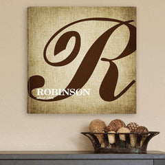 Personalized Family Initial Canvas Sign at AGiftPersonalized
