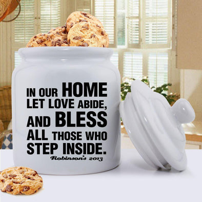 Personalized Antique Style Prayer Cookie Jar - Black - JDS