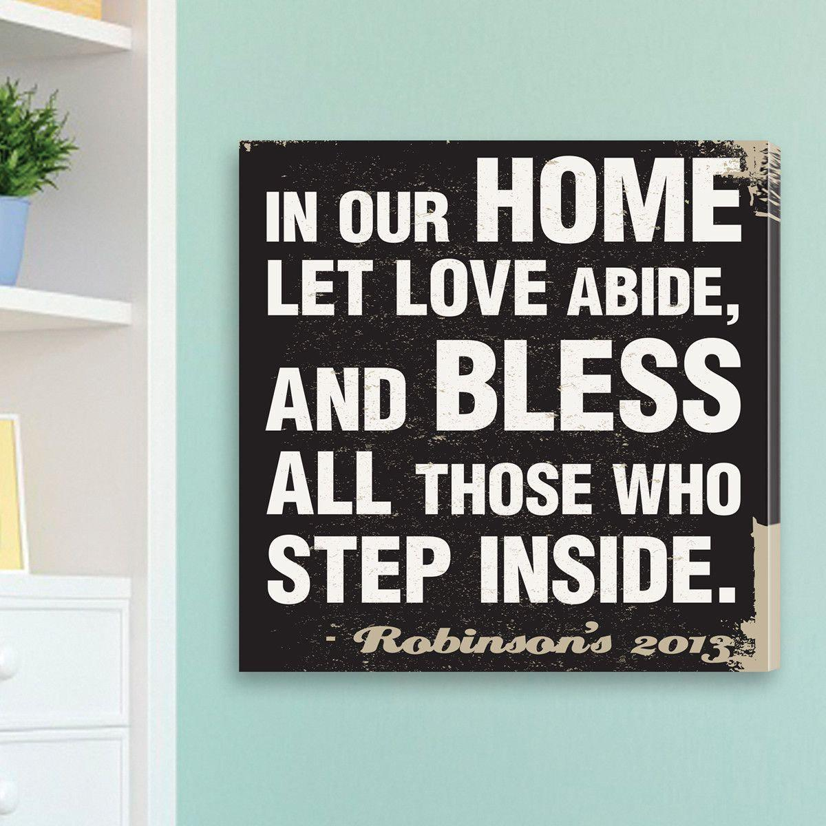 Personalized Antique Home Prayer Canvas Sign