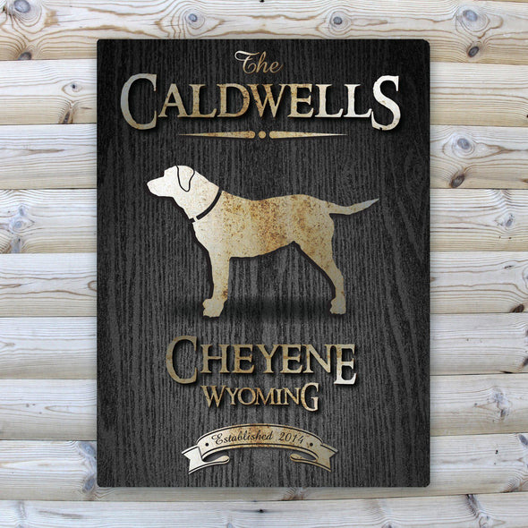 Personalized Wood Gain Welcome to the Lake Canvas Sign - Lab - JDS