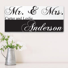 Personalized Signs - Canvas Prints - Mr. & Mrs. - Wedding Gifts at AGiftPersonalized