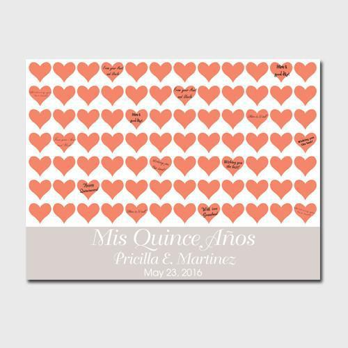 Personalized Quinceanera Canvas - Poppy Hearts