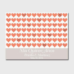 Personalized Quiceanera Canvas - Poppy Hearts