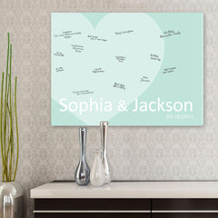 Personalized Guestbook Canvas - Seaglass Love