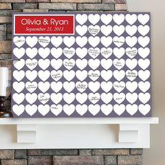 Personalized Guestbook Canvas - Love Family & Friends