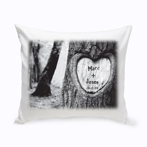Personalized Everlasting Love Tree Carving Throw Pillow -  - Home Decor - AGiftPersonalized