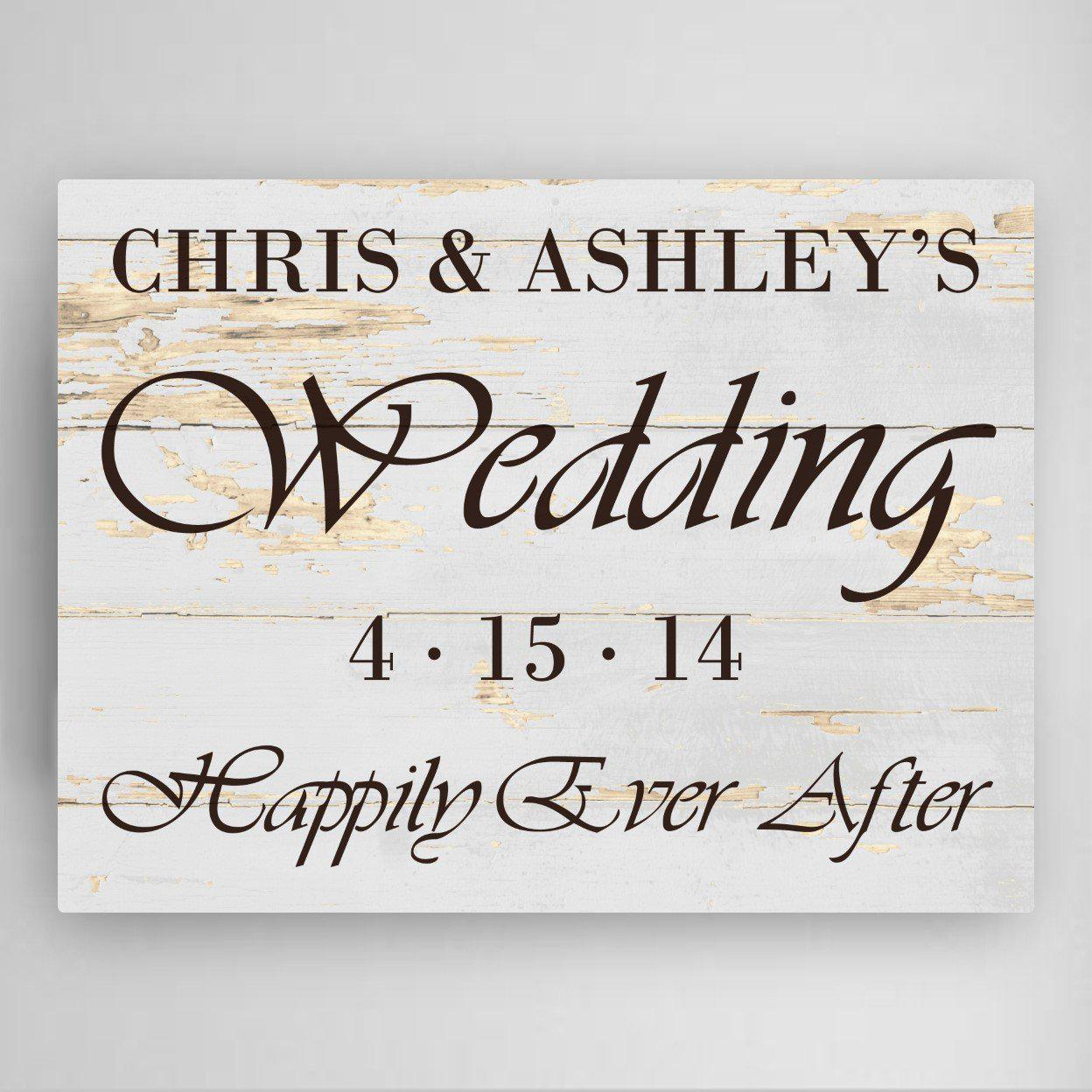 Personalized Wedding Reception Canvas Sign