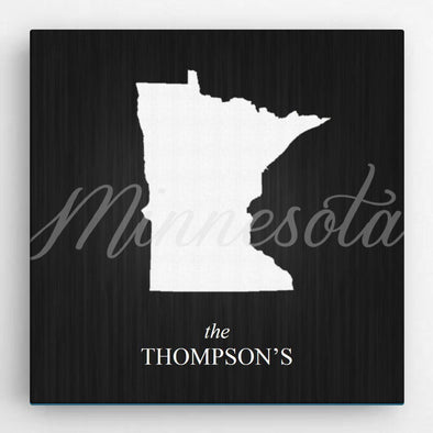 Personalized State Canvas Sign -  - JDS