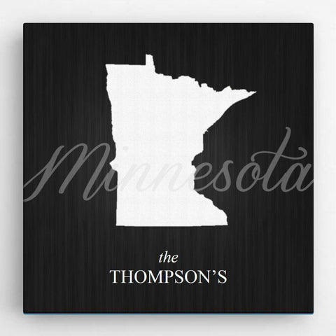 Personalized State Canvas Sign -  - Canvas Prints - AGiftPersonalized
