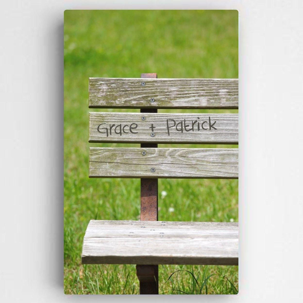 Personalized-Park-Bench-Romance-Canvas-Sign