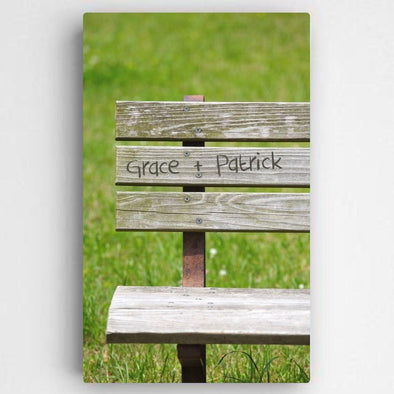 Personalized Park Bench Romance Canvas Sign -  - JDS