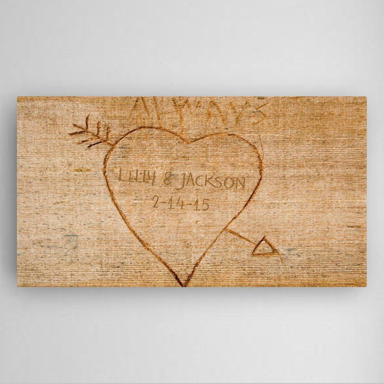 Image Personalized Cupid's Arrow Canvas Sign