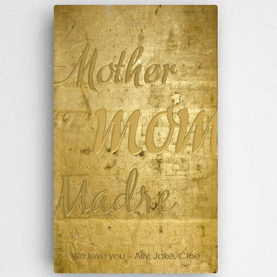 Personalized Mothers Gold Canvas Sign -  - JDS