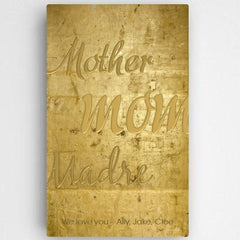 Personalized Mothers Gold Canvas Sign -