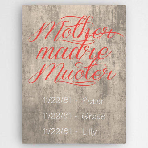 Personalized Definition of A Mother Canvas Sign -  - Canvas Prints - AGiftPersonalized