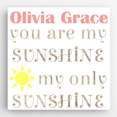 Personalized Kids Canvas Sign-Sunshine -  - JDS