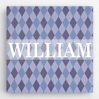 Personalized Pattern Kids Canvas Sign -  - JDS
