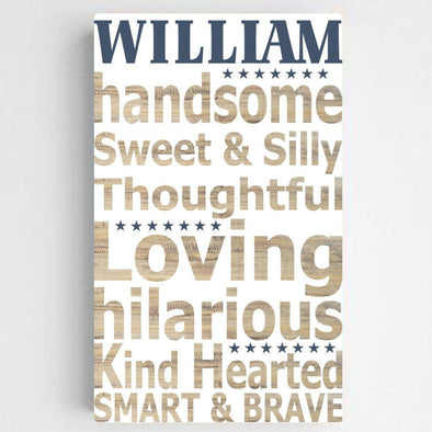 Personalized Boy Definition Canvas Sign -  - JDS