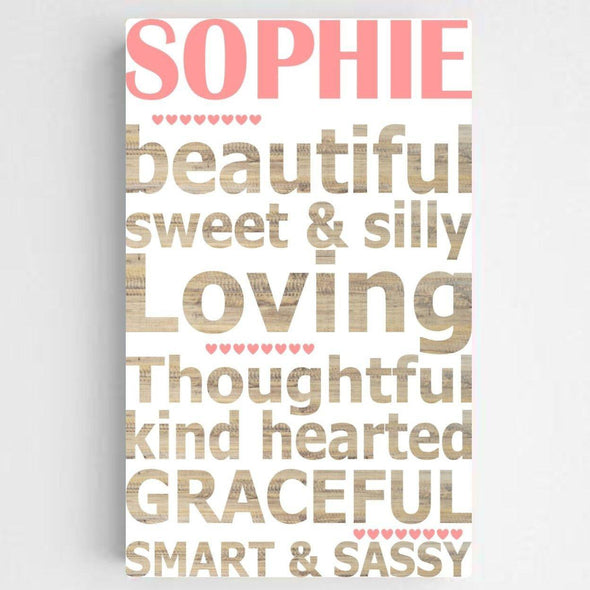 Personalized Kids Definition Canvas Sign -  - JDS