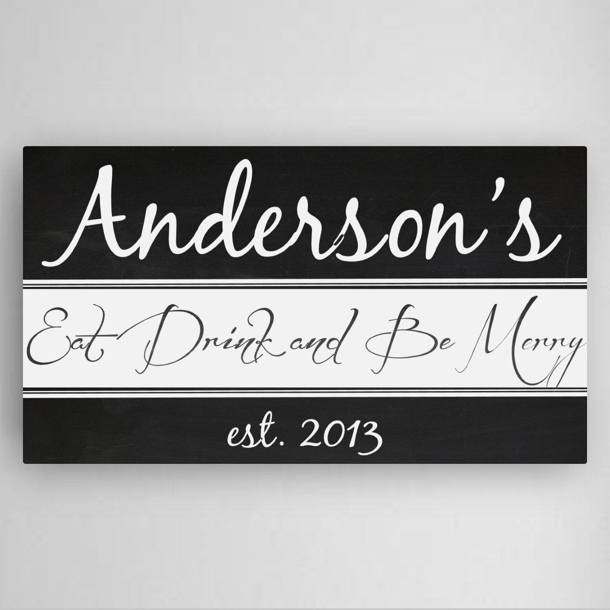 Personalised Kitchen Signs: Personalized Kitchen Canvas Sign