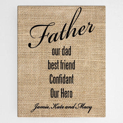Personalized Our Dad Canvas Sign -  - JDS