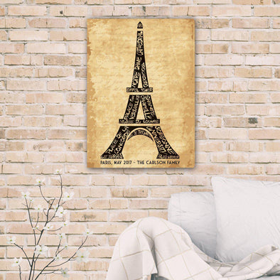 Personalized Eiffel Tower Canvas -  - JDS