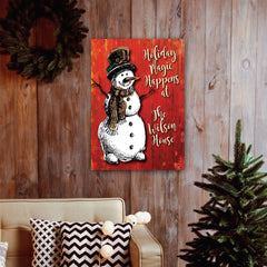 Personalized Vintage Snowman Canvas -  - Canvas Prints - AGiftPersonalized
