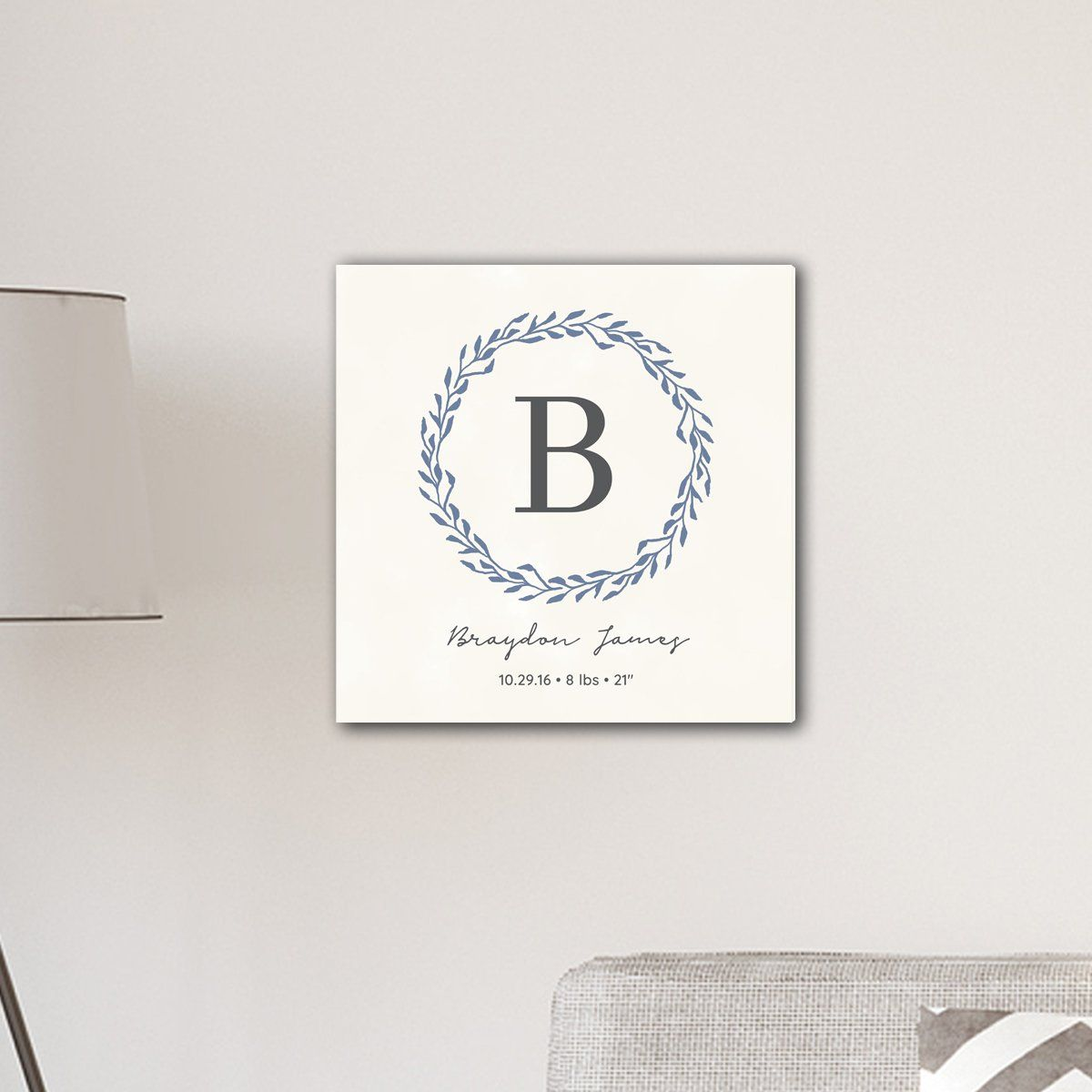 Personalized-Family-Initial-Wreath-Vine-18-x-18-Canvas-Signs