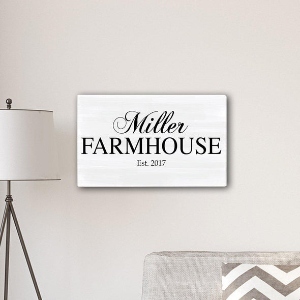 "Personalized Family Name Farmhouse Canvas Print - 14"" x 24"" - Default Title - JDS"