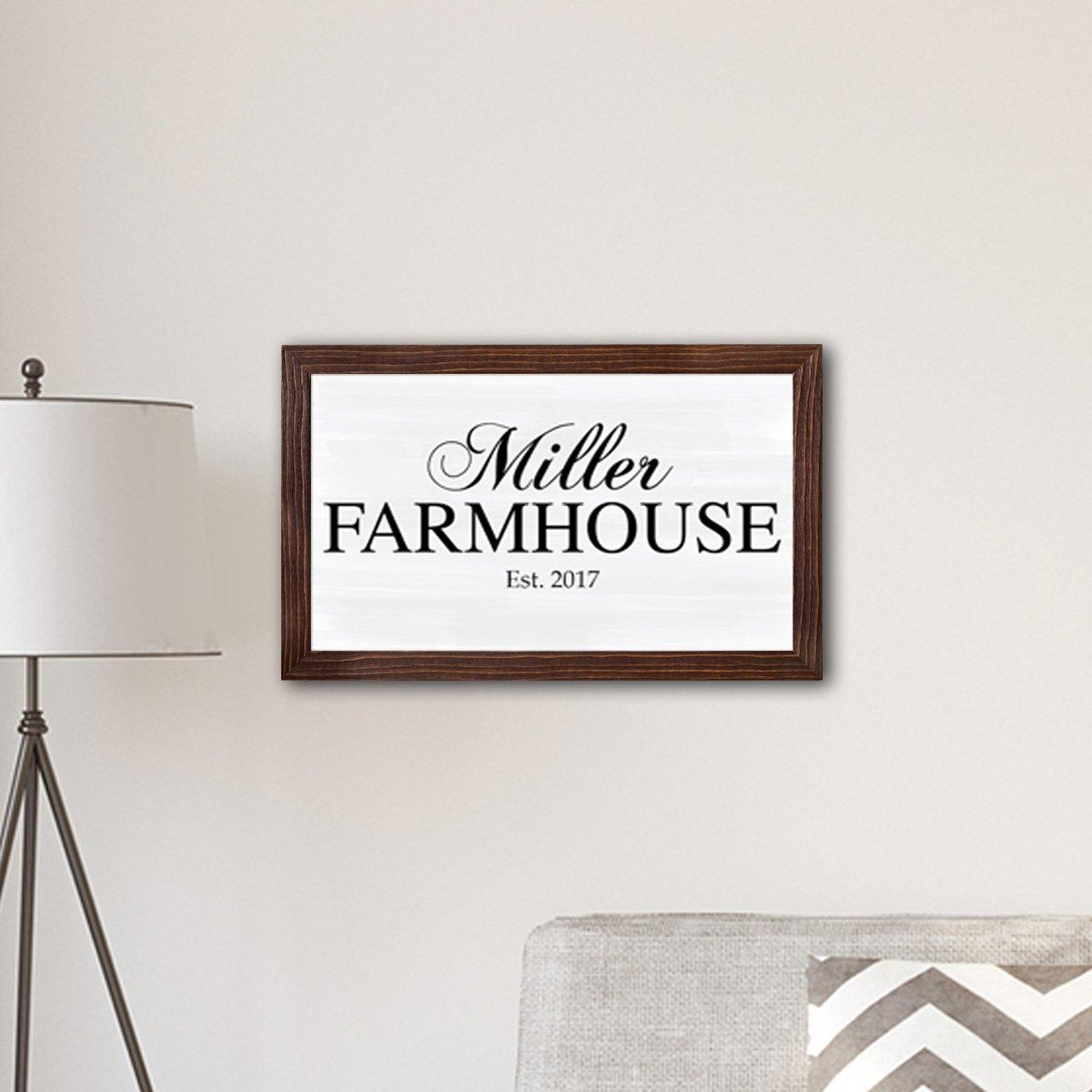 Personalized Framed Family Name Farmhouse Canvas Print - 14