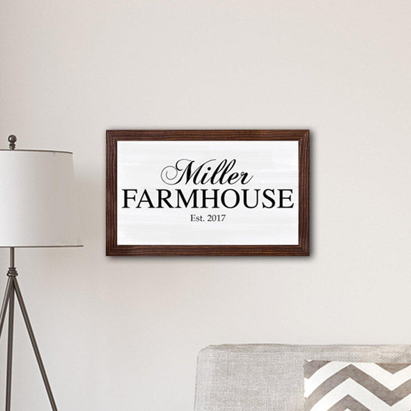 "Personalized Framed Family Farmhouse Modern Farmhouse 14"" x 24"" Canvas -  - JDS"