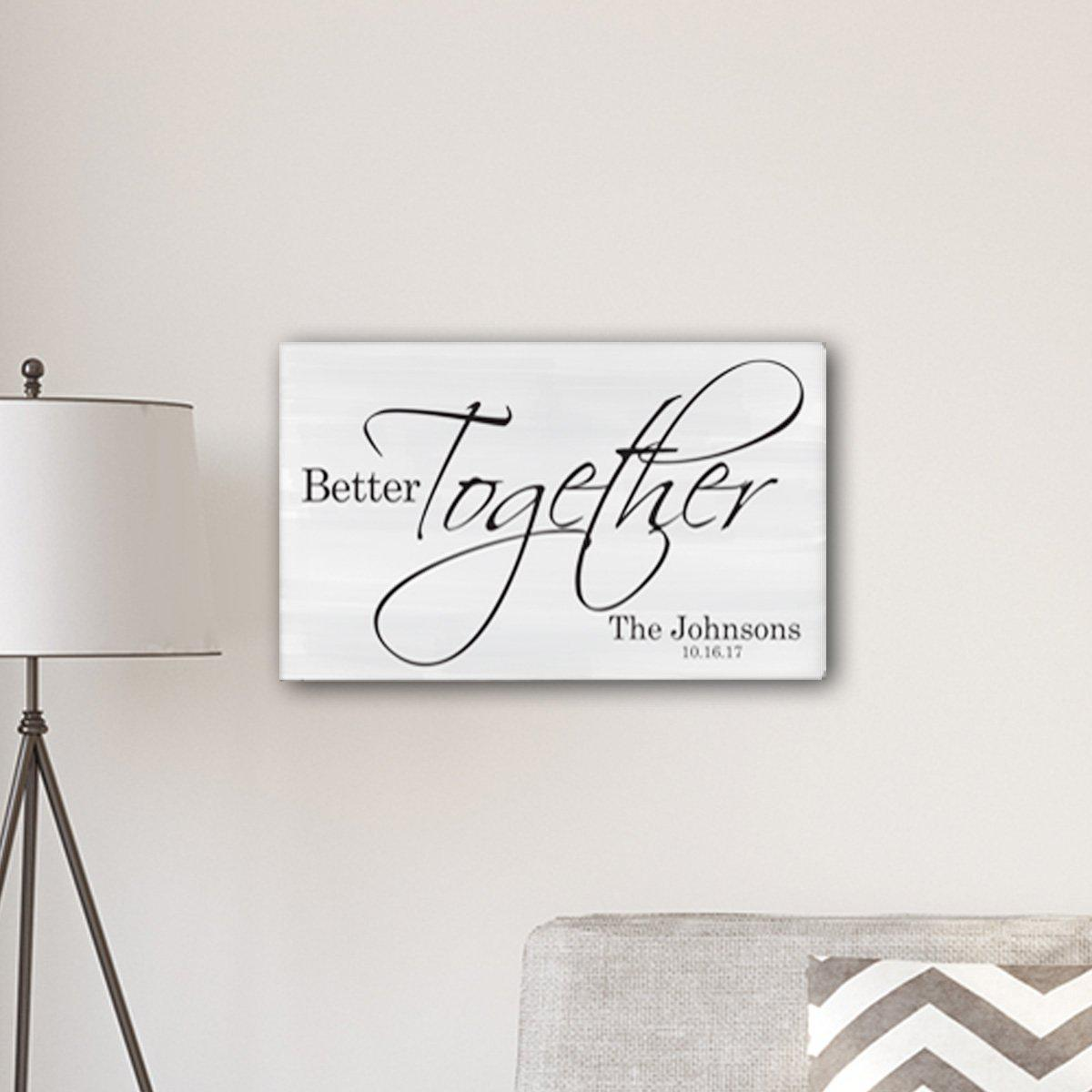 Personalized Better Together Modern Farmhouse Sign 14