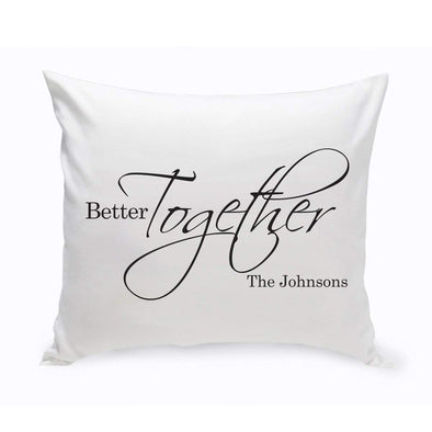 Personalized Better Together Throw Pillow -  - JDS